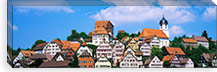 Buildings on a hill, Altensteig, Black Forest, Germany #PIM893