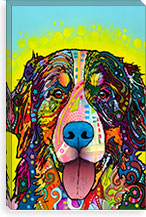 Burnese Mountain Dog By Dean Russo Canvas Print #13559