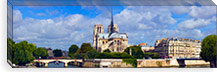 Cathedral at the riverside, Notre Dame Cathedral, Seine River, Paris, Ile-de-France, France #PIM8486