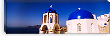 Church with sea in the background, Santorini, Cyclades Islands, Greece #PIM4429