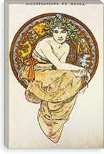 Clio (1900) By Alphonse Mucha Canvas Print #15190