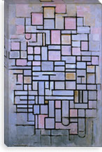 Composition 6, 1914 By Piet Mondrian Canvas Print #13601