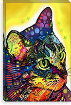 Confident Cat By Dean Russo Canvas Print #4242