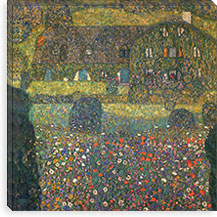 County House by the Attersee By Gustav Klimt Canvas Print #14020