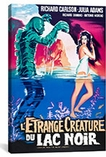 Creature From The Black Lagoon French Vintage Movie Poster Canvas Print #5076