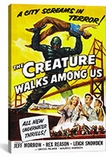 Creature Walks Among Us Vintage Movie Poster Canvas Print #5077