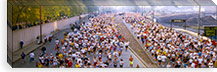 Crowd running in a marathon, Chicago Marathon, Chicago, Illinois, USA #PIM7784