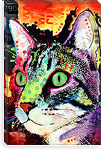 Curiosity Cat By Dean Russo Canvas Print #4243