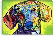 Dachsund By Dean Russo Canvas Print #4244