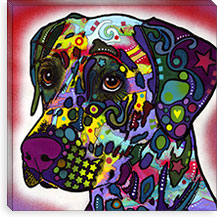 Dalmatian By Dean Russo Canvas Print #13546