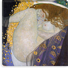 Danae By Gustav Klimt Canvas Print #14007
