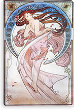 Dance, 1898 By Alphonse Mucha Canvas Print #15199
