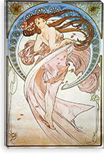 Dance By Alphonse Mucha Canvas Print #15274
