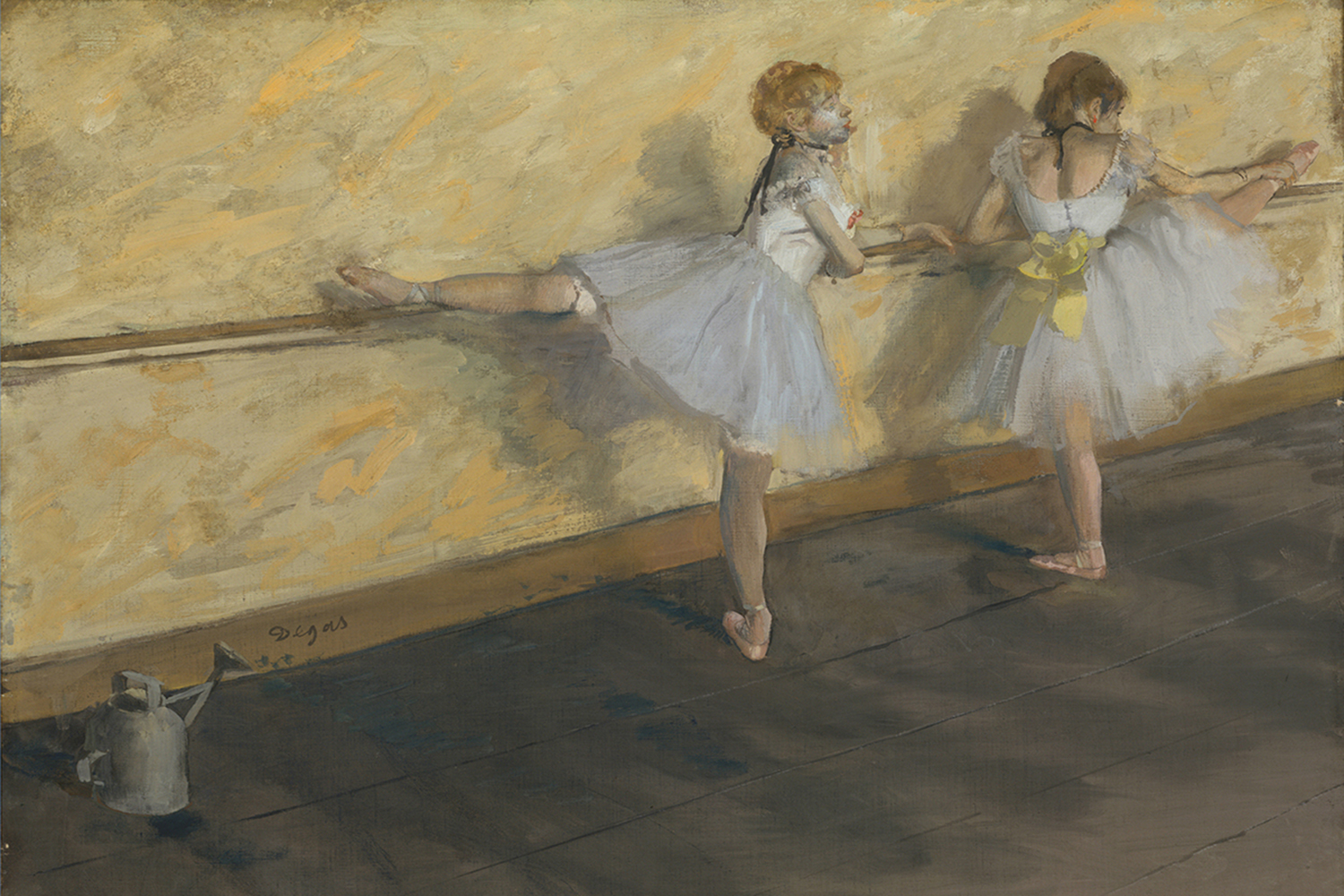 Dancers Practicing at the Bar by Edgar Degas #1065