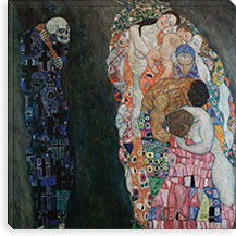 Death and Life By Gustav Klimt Canvas Print #14021
