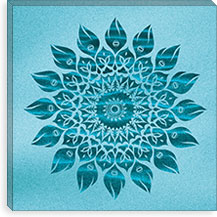 Deep Meditation Mandala By Maximilian San Canvas Print #MXS16