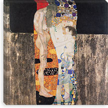 Die drei Lebensalter der Frau (The Three Ages) By Gustav Klimt Canvas Print #14008