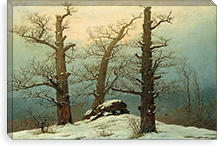 Dolmen in the Snow By Caspar David Friedrich Canvas Print #15038