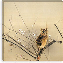 Early Plum Blossoms By Nishimura Goun Canvas Print #13698