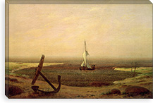 Evening By Caspar David Friedrich Canvas Print #15027