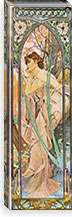 Evening Reverie, 1899 By Alphonse Mucha Canvas Print #15205