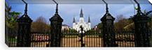 Facade of a church, St. Louis Cathedral, New Orleans, Louisiana, USA #PIM2288