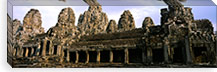 Facade of an old temple, Angkor Wat, Siem Reap, Cambodia #PIM5882