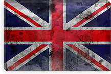 Faded British Flag Canvas Print #Uvp19