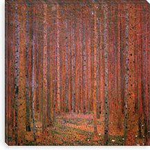 Fir Forest I By Gustav Klimt Canvas Print #14025