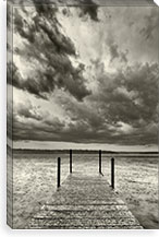 First Droplets Monochrome By Geoffrey Ansel Agrons Canvas Print #13917
