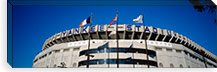 Flags in front of a stadium, Yankee Stadium, New York City, New York, USA #PIM5600