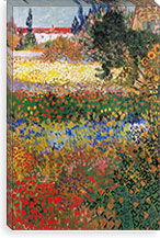 Flowering Garden By Vincent van Gogh Canvas Print #14276