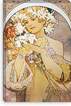Flowers, 1897 By Alphonse Mucha Canvas Print #15196