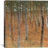 Forest of Beech Trees By Gustav Klimt Canvas Print #1747