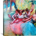 Four Ballerinas on The Stage By Edgar Degas Canvas Print #1328