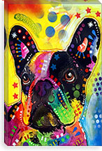 French Bulldog By Dean Russo Canvas Print #4247