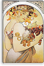 Fruit, 1897 By Alphonse Mucha Canvas Print #15197