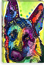 German Shepherd By Dean Russo Canvas Print #4248