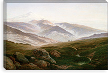 Giant Mountains By Caspar David Friedrich Canvas Print #15033