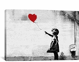 Girl with a Balloon By Banksy Canvas Print #2022