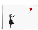 Girl with Balloon By Banksy Canvas Print #2017