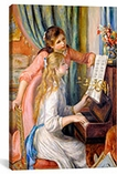 Girls at the Piano By Auguste Renoir aka Pierre-Auguste Renoir Canvas Print #1134