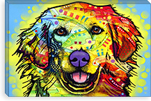 Golden Retriever By Dean Russo Canvas Print #4249