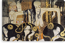 Gorgonen 3 (The Three Gorgones: Sickness, Madness, Death) By Gustav Klimt Canvas Print #14028