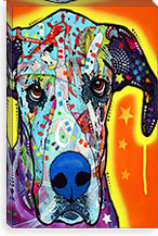 Great Dane By Dean Russo Canvas Print #4250