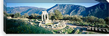 Greece, Delphi, The Tholos, Ruins of the ancient monument #PIM4622