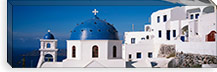 Greece, Santorini, Fira, Church of Anastasis, Blue dome on a Church #PIM2169
