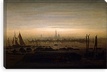 Greifswald in Moonlight By Caspar David Friedrich Canvas Print #15253