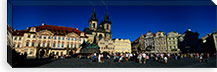 Group of people at a town square, Prague Old Town Square, Old Town, Prague, Czech Republic #PIM5495