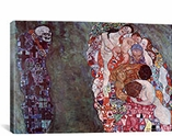 Gustav Klimt Death And Life By Gustav Klimt Canvas Print #1100